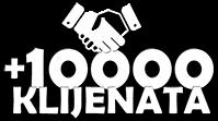 Plus 10000 klijenata