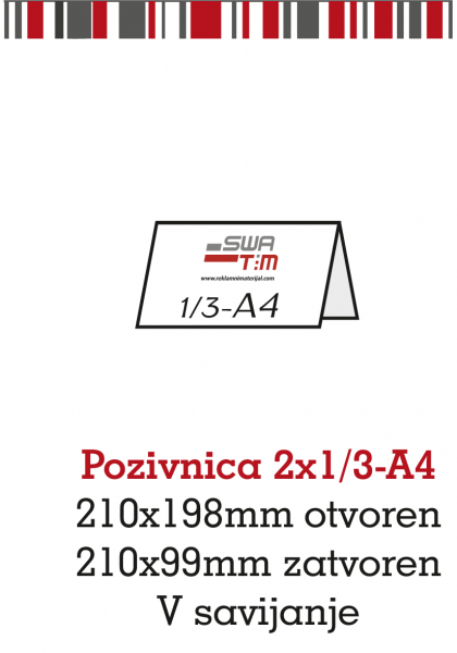 Pozivnica-2x1/3-A4