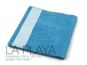reklamni materijal-peskiri-LA PLAYA-boja rojal-plava