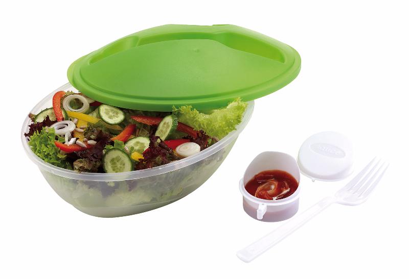 reklamni materijal-kuhinjski setovi-EAT FRESH-kutija za hranu sa viljuskom i cinijicom za dresing