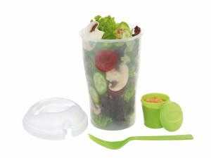 reklamni materijal-kuhinjski setovi-VEGGIE--casa za salatu,sa viljuskom i cinijom za preliv