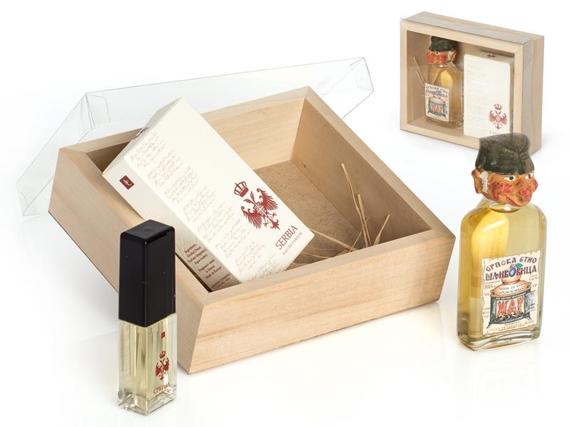 reklamni materijal-pljoske i cuturice-SRPSKE NOTE-poklon set