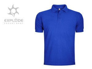 reklamni materijal-polo majice-TOP GUN-boja rojal-plava