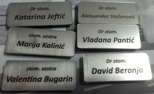 reklamni materijal-trakice i elementi-oznaka sa imenom