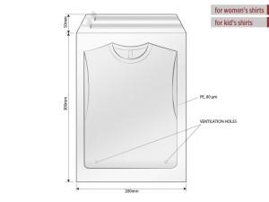 reklamni materijal-unisex majice-POLY BAG 20 X 30