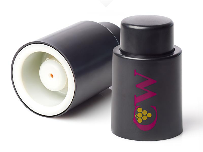 reklamni materijal-vinski setovi-plasticni vakumski zatvarac za flasu-CORK-boja crna