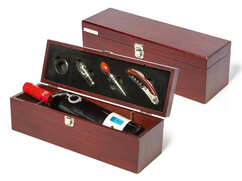 reklamni materijal-vinski setovi-vinski set-CLASSIC-boja bordo