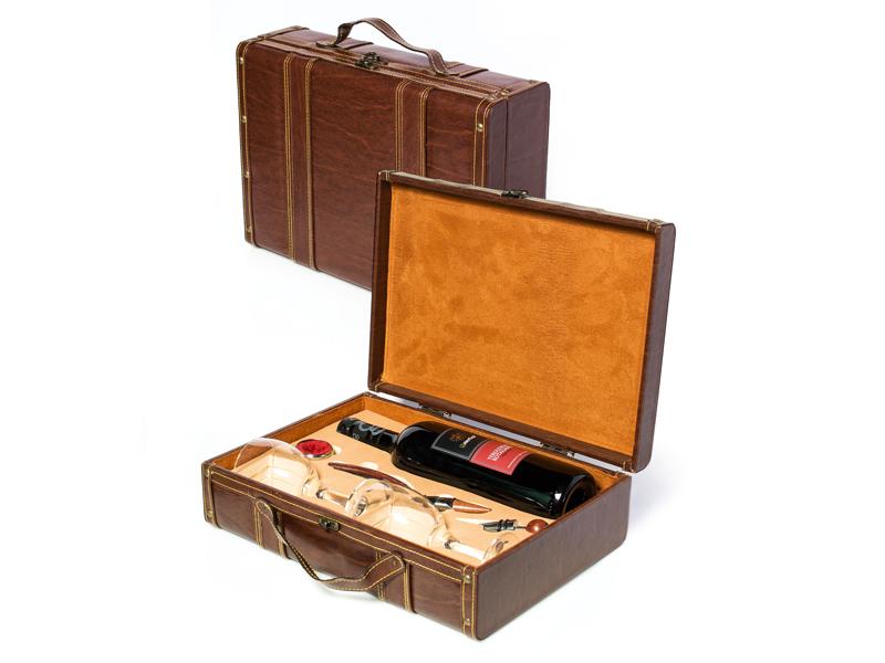 reklamni materijal-vinski setovi-vinski set-ELITE vinski set-boja braon