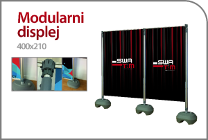 MODULARNI DISPLAY WALL - REKLAMNI ZID - FOTO PANO 400 x 210 cm