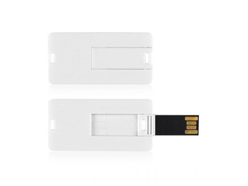 reklamni materijal - USB Flash memorija - MINI CARD - boja bela